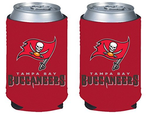 NFL Football 2014 Team Color Logo Can Kaddy Holder Can Cooler 2-Pack (Tampa Bay Buccaneers)