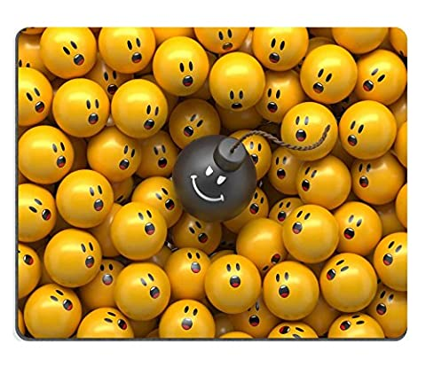 Luxlady Mousepad 3d abstract balls background demographic chart terror panic concept IMAGE 21243345 (Bomb Panic)