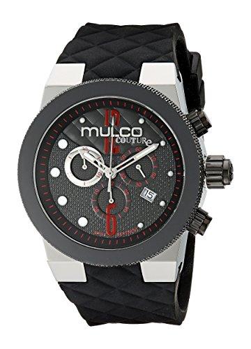 MULCO Men's MW5-2552-025 Couture Analog Display Swiss Quartz Black Watch