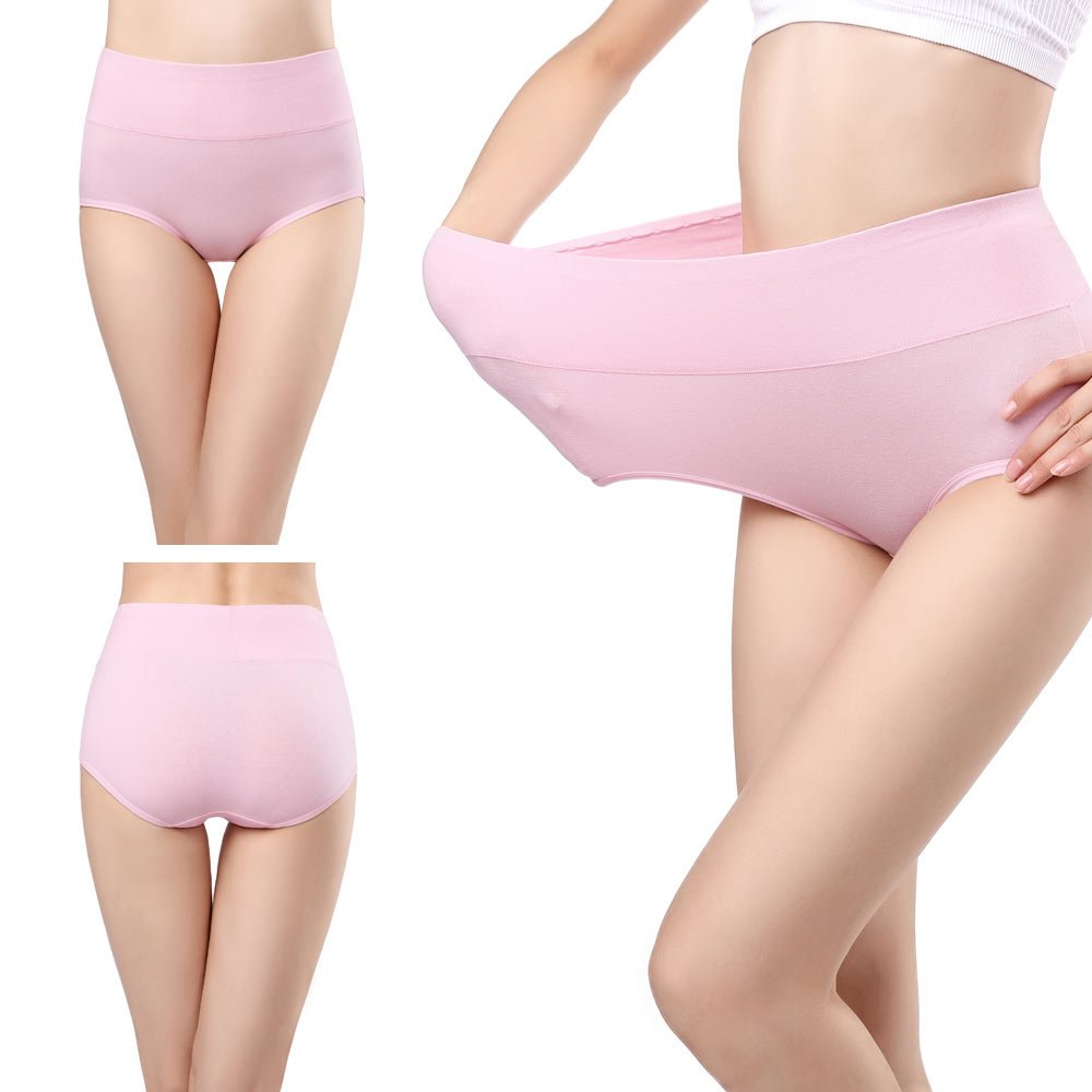 wirarpa Womens Cotton Underwear 4 Pack High Waist Briefs Light Tummy Control Ladies Comfort Stretch Panties Underpants Size XL,Multicoloured by wirarpa (Image #4)