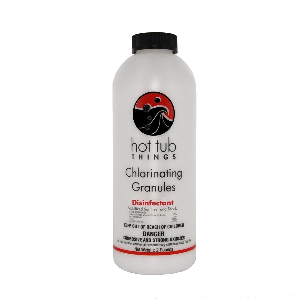 Amazon.com : Hot Tub Things Chlorine Granules 2 Pounds - Effective ...