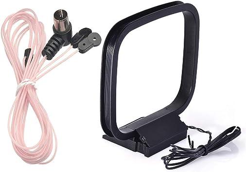 TONGXU Set de FM 75ohm Antena Dipolo con Conector Tipo F Antena Loop Am Sistema Estéreo Sintonizador de FM Antena de Radio Bluetooth Receptor de Cine ...