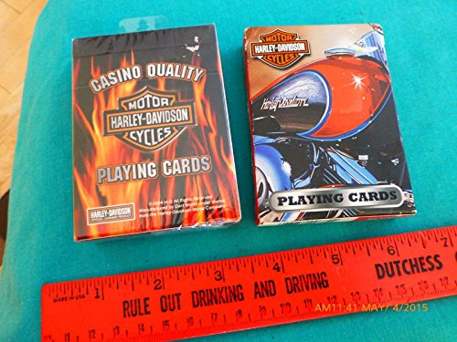 - 2 Harley-Davidson Motorcycles Playing Cards