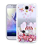 Galaxy S4 Case,Samsung S4 Case,EMAXELER 3D Creative Angel Girl Flowing Liquid Floating Bling Shiny Liquid Polycarbonate Hard Case for Samsung Galaxy S4+Stylus Pen,Car Girl--Silver Liquid