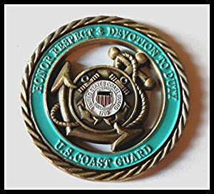 Coast Guard Core Values Colorized Military Challenge Art Coin