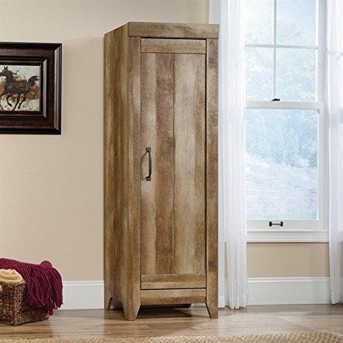 Sauder 418137 Storage Cabinet, Furniture Adept Narrow, Craftsman Oak by Sauder