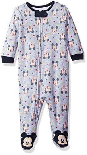 Disney Boys' Mickey Mouse All Over Print Blanket Sleeper, Grey, 0/3
