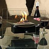 Sunnydaze Black Zen Ventless Tabletop Bio Ethanol Fireplace