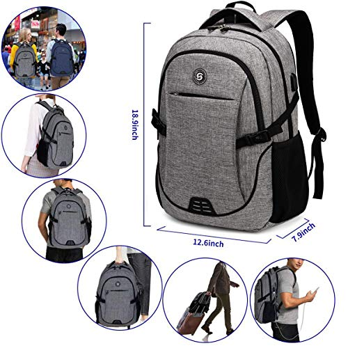 Travel Laptop Backpack with usb Charging Port for Women & Men School College Students Backpack Fits 15.6 Inch Laptop 7