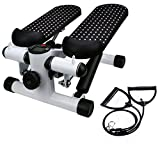 Iusun Twister Stepper, Household Hydraulic Mute Stepper with Adjustable Resistance Bands, Multi-Function Pedal Cardio Training Stepper Machine for Indoor Home Exercise – Ship From USA