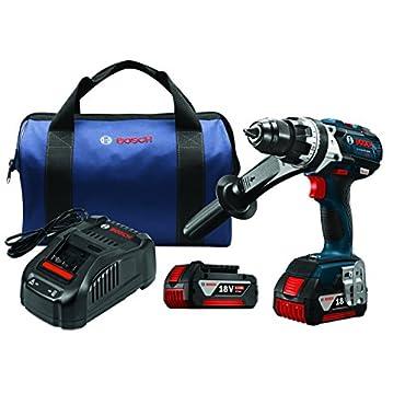 """Bosch HDH183-01 18V EC Brushless 1/2"""" Hammer Drill/Driver, Blue"""