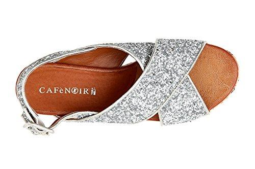 Cafè Croise Argento Sandale 38 Noir 204 KHA928204380 qY8rwzqv
