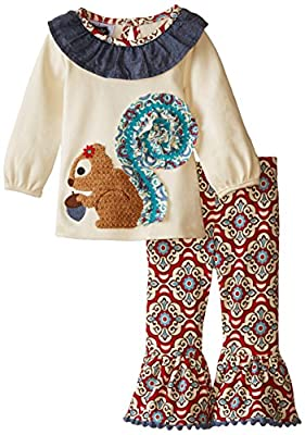 Girls Squirrel Tunic and Legging Set from Mud Pie