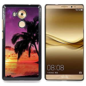 "For HUAWEI Ascend MATE 8 , S-type Puesta de sol de coco Beautiful Nature 121"" - Arte & diseño plástico duro Fundas Cover Cubre Hard Case Cover"