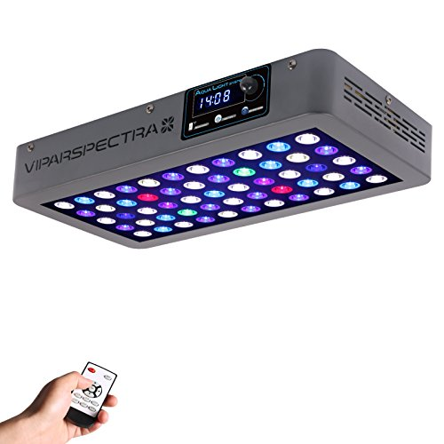 VIPARSPECTRA Timer Control 165W LED Aquarium Light Dimmable Full Spectrum for Coral Reef Grow Fish (Reef Tank Corals)
