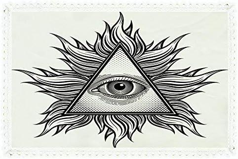 iPrint Eye, mantel rectangular de lino y poliéster con forma de ...