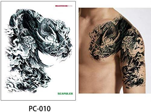 adgkitb 2 Piezas Hombro Medio Brazo Tatuaje Scapuler Pegatina ...