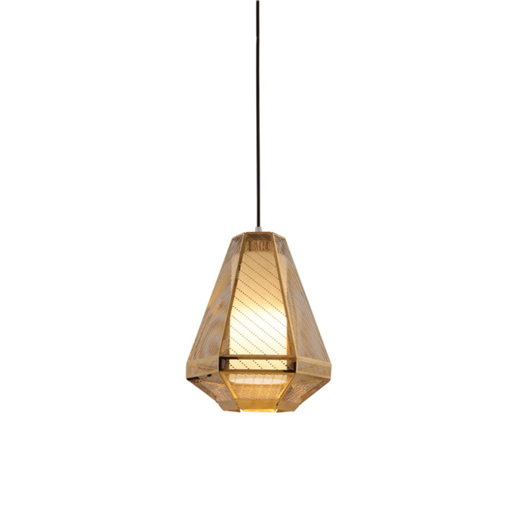 ZYANZ- Glass Chandelier Creative Personality Simple Bedroom Restaurant Retro Industrial Style Gold Bedside Chandeliers