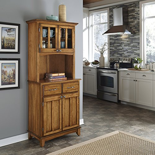 Buffet of Buffet Cottage Oak with Wood Top with Hutch by Home Styles Cabinet Oak Veneer Buffet China