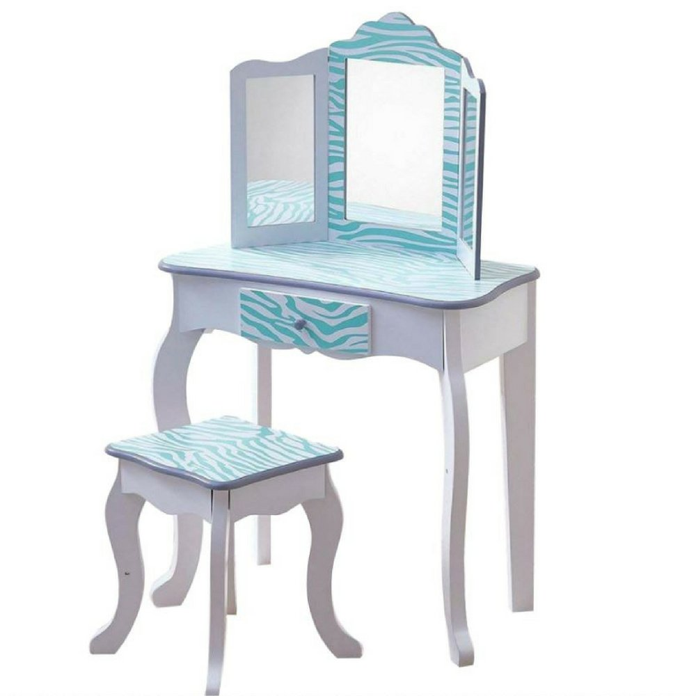 Cool Amazon Com Bs Kids Vanity Table And Stool Set With Mirror Gmtry Best Dining Table And Chair Ideas Images Gmtryco