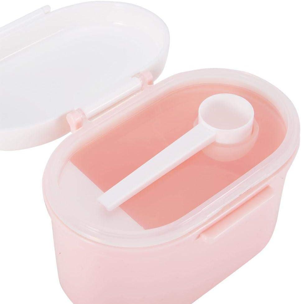 Dispenser per Latte in Polvere per Neonati Bambini Seal Storage Box Contenitore Microonde Refrigeratible Bambino Sicuro Caramella Frutta Spuntino Tazza Scatola Metallica per Picnic Viaggio Blue L