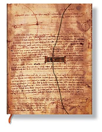Leonardos Skizzen Wasser - Notizbuch Groß Liniert - Paperblanks