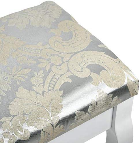env Table de miroir Miadomodo Coiffeuse avec tabouret et miroir Secr/étaire Banquette Table de Cosm/étique Coiffeuse Coiffeuse 76//40//149 cm Coiffeuse dans un style baroque en blanc Coiffeuse