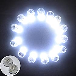 Neo LOONS 100pcs/lot 100 X White Round Led Flash Ball Lamp Balloon Light Long Standby time Paper Lantern Balloon Light Party Wedding Decoration
