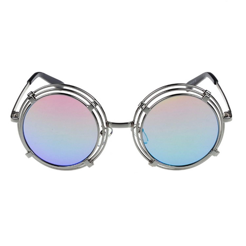 ZhuoTai Round Sunglasses Punk Personality Mesh Anti-luster Film Sunglasses Tide Sunglasses Toad