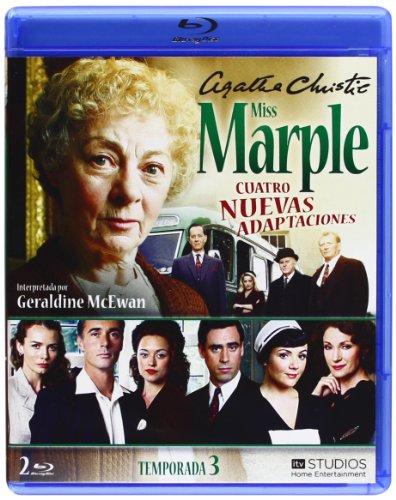 Agatha Christie's Miss Marple Adaptations - Season 3 (4 Films) - 2-Disc Set ( Marple: Towards Zero / Marple: Nemesis / Marple: At Bertram's Hotel / Marple: Ordeal [ Blu-Ray, Reg.A/B/C Import - Spain ]