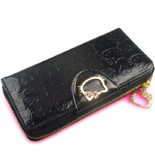 U-beauty Hello Kitty Pressed Black Purse Lady Multifunction Wallet