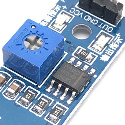 Lzndeal 10 Pieces IR Module Infrarouge de capteur d/évitement dobstacle pour Voiture dArduino et Robot