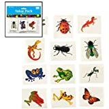 Fun Express Nature Temporary Tattoos - Insects & Reptiles (6 Dozen)