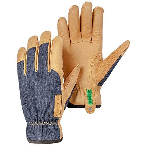 (Hestra Work Gloves: Kobalt Denium Utility Work Gloves, Indigo, 8)