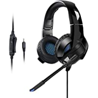 Qingta Gaming Headset,3.5MM Jack Stereo Bass Surround Noise Isolation Gaming Headphone with Mic&Control for PS4, Xbox One, Nintendo Switch 0001