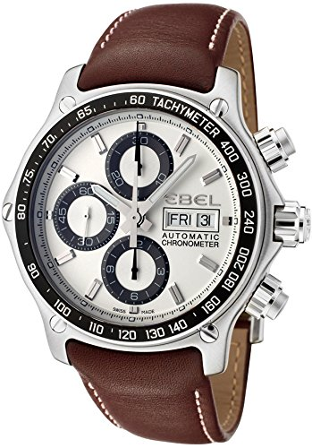 Ebel-Mens-1911-Discovery-Automatic-Chronograph-Brown-Leather