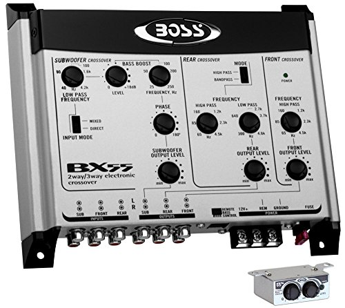 BOSS BX55 2/3 Way Car Audio Electronic Crossover Bass w/Remote
