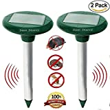 Mole Repellent Ultra Sonic Repeller – Solar Powered Pest Control Deterrent Repellent Repels Mole/Mice/Vole/Gopher/Rodents Safely Humanly, Lawn/Garden Protection 2 -Pack For Sale
