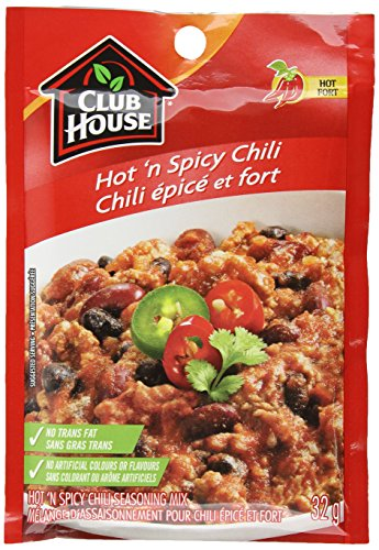 Club House, Dry Sauce/Seasoning/Marinade Mix, Hot'N Spicy Chili, 32g