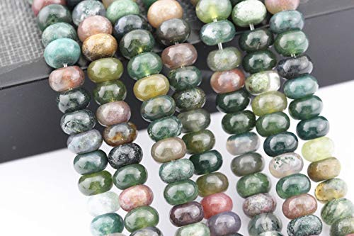 """Bead Jewelry Making Natural India Agate Rondelle Loose Beads 610mm 15.5"""" Long Per Strand"""