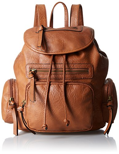 Tan Leather Backpack - 1