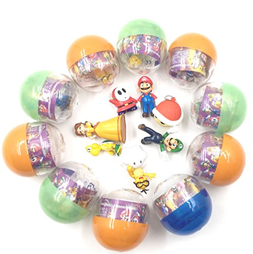 Children's Toy Super Mario Brothers Mini Figures Filled Party Favor Toy Capsules(10 count) Updated by YZC