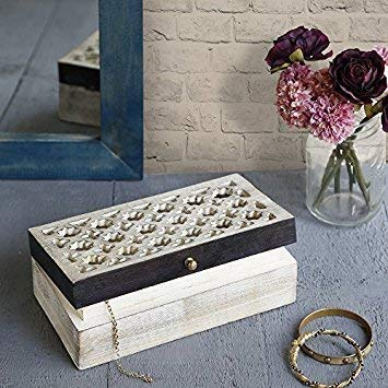 Wooden Mughal Jali Box 9