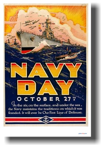 Navy Day - Vintage Ww2 Reproduction Poster