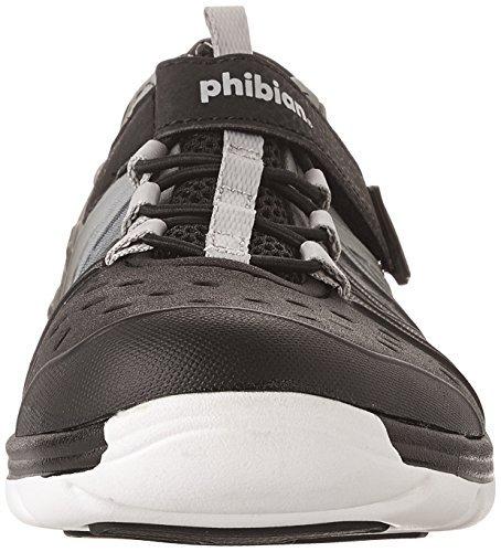 Stride Rite Unisex Made 2 Play Phibian (Toddler/Little Kid/Big Kid) Black/Grey Sandal