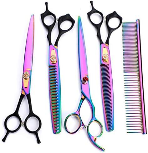 ヘアカット鋏 はさみ プロの理髪師の髪のはさみ/はさみ(8インチ) - プロの歯科用ハサミ/曲げのはさみは毛の切断をせん断します ヘアトリミングシザー (Color : Color)