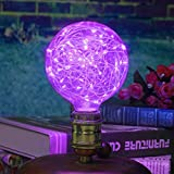 Outgeek Light Bulb, Lamp Bulb Vintage Decorative String Antique Filament LED Starry Light Bulb