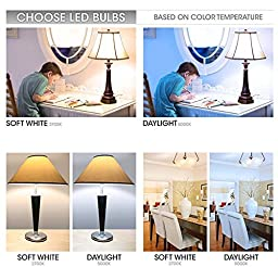 TCP 9W LED Light Bulbs (60 Watt Equivalent), A19 - E26, Medium Screw Base, Non-Dimmable, Soft White (2700K) (Pack of 6)