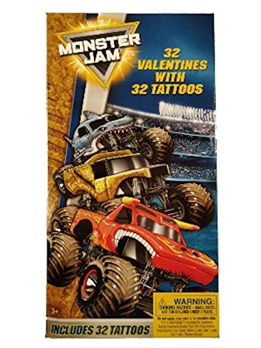 Monster Jam 32 Valentine Cards with -
