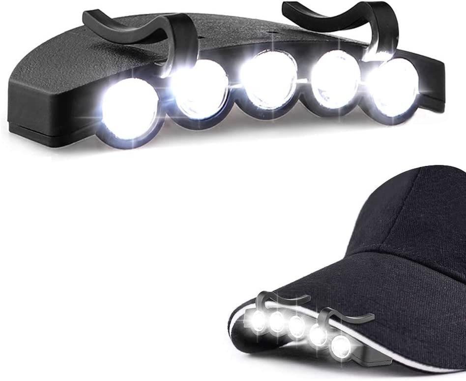 Clip-On LED Cap Light Hat Brim Headlamp Super Bright COB Technology Night Lamp